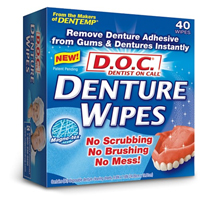 Denture wipes