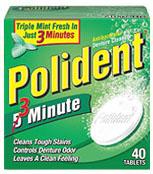 Denture cleanser tablet