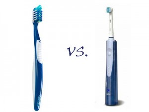 toothbrush vs 300x225 10 Good Reasons to Switch to Electric Toothbrushes