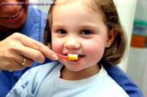 Children brushing teeth @ worldofstock.com