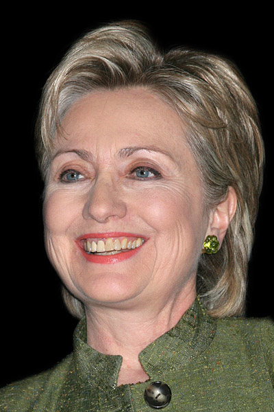 Hilary Clinton's yellow teeth