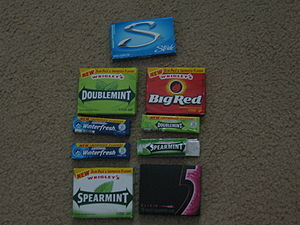 Many types of North American chewing gum from ...